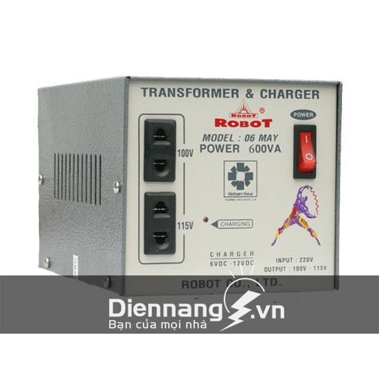 Biến thế biến áp  ROBOT có sạc 600Va (6V - 12V)
