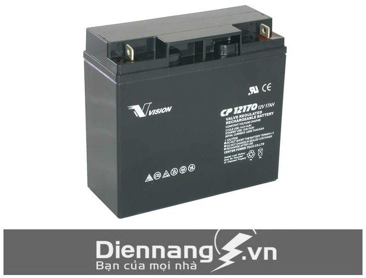 Ắc quy xe đạp điện Vision CP12170E-X (12V - 17Ah)