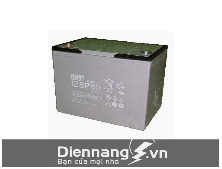 Ắc quy Fiamm cũ 12SP80 (12V - 80Ah)