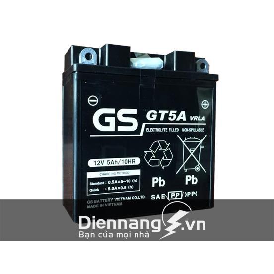 Ắc quy xe máy Honda Dream , Wave anpha, GS GT5A (12V-5Ah)