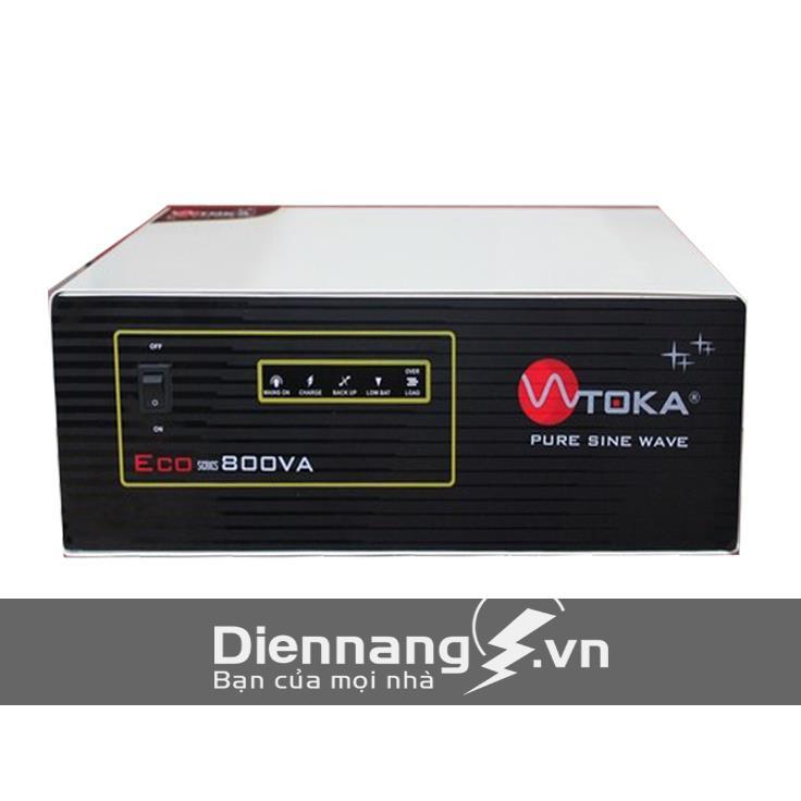 Máy đổi điện - inverter - máy kích điện Toka 800VA - 12V combo
