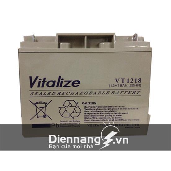 Ắc Quy xe đạp điện VITALIZE VT1218 (12V - 18Ah)