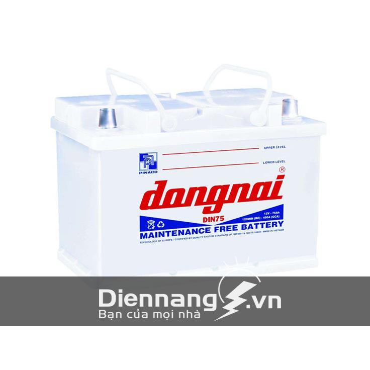 Ắc quy Đồng Nai DIN75 (12V - 75Ah)