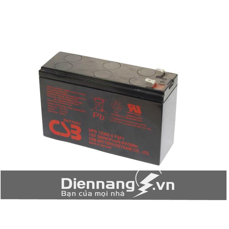 Ắc quy CSB UPS 12360 6F2 (12V - 6Ah)