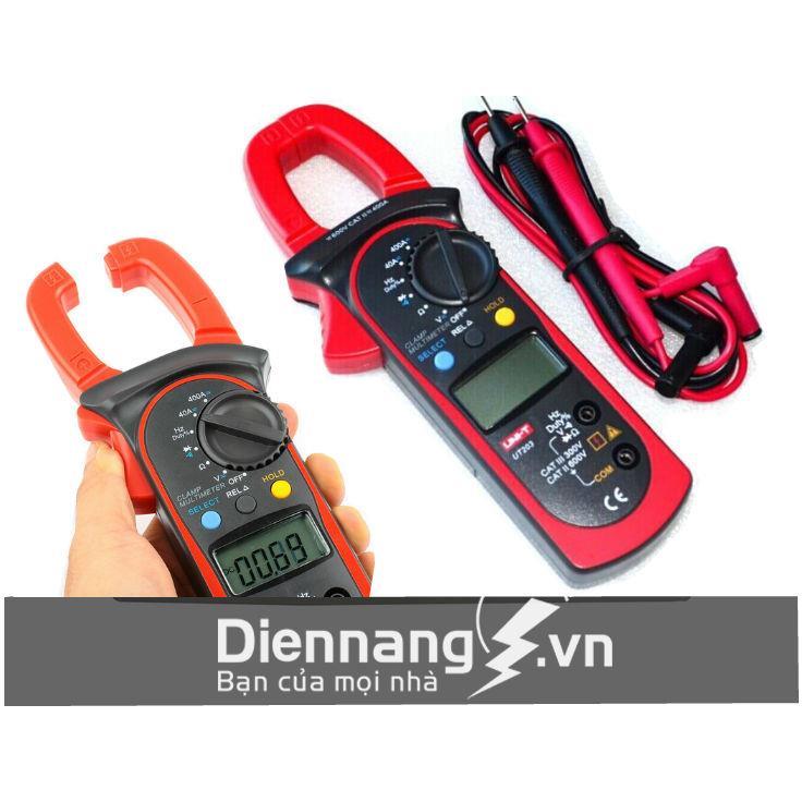 Ampe kẹp dòng đo Vol AC đo Vol DC UNI-T UT203
