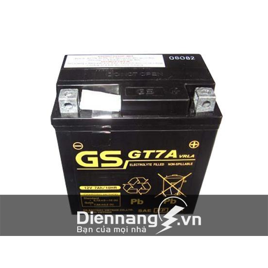 Ắc Quy Xe Máy Honda SH 150, Vespa, Ắc quy GS GT7A (12V - 7Ah)