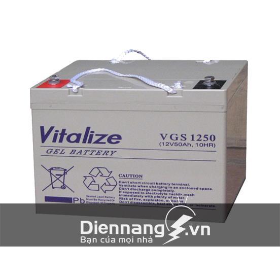 Ắc quy Vitalize Gel VGS 1250 (12V - 50Ah)