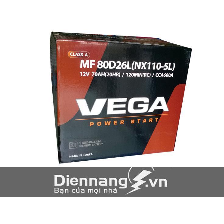 Ắc quy Vega SMF 80D26L (12V - 70Ah)