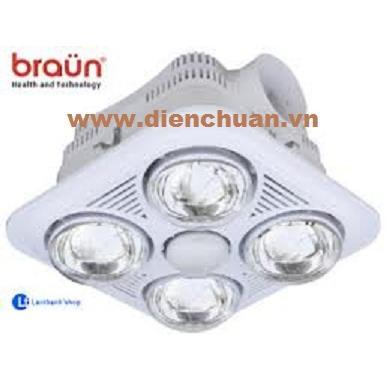 Đèn sưởi Braun 4 bóng trắng