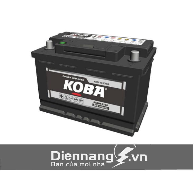 Ắc quy KOBA SE 58010 Din 80L (12V - 80Ah) - cho xe Start-Stop