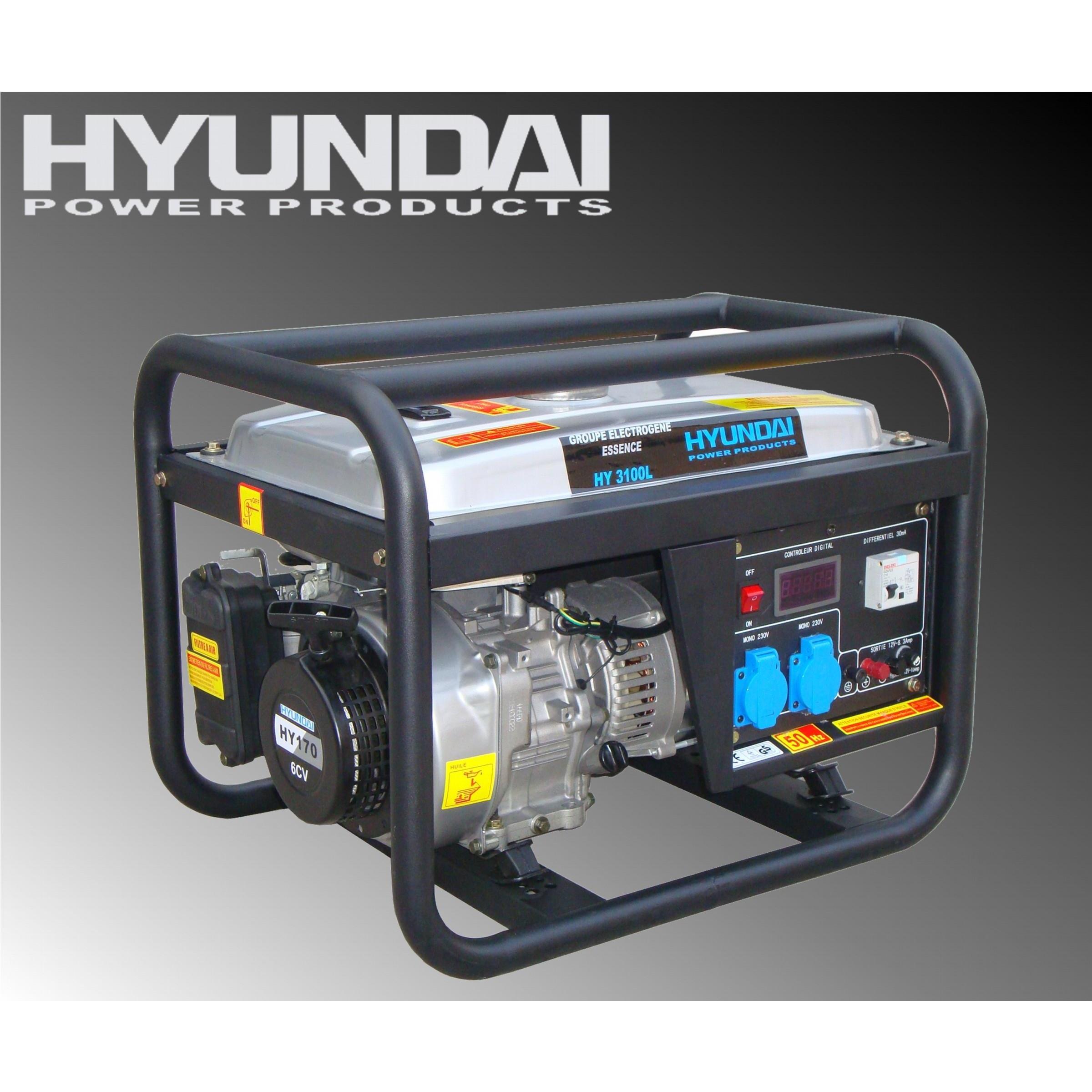 Máy phát điện Huyndai dân dụng - chạy xăng HY3100L (2.5-2.8KW)