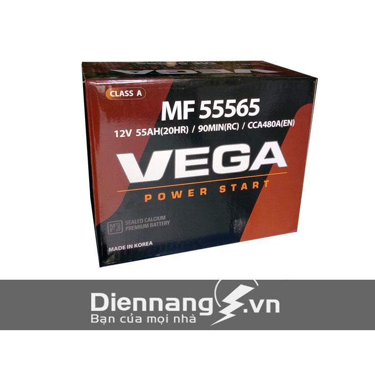 Ắc quy Vega SMF Din 55565 (12V - 55Ah)