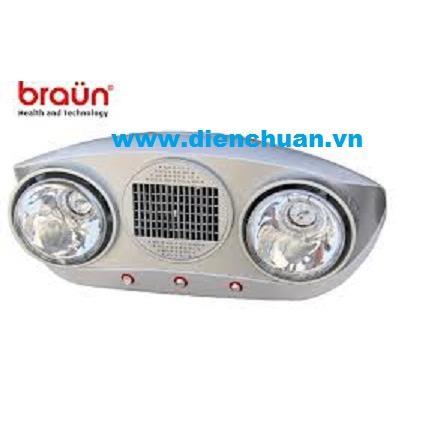Đèn sưởi Braun 2 bóng BU02P trắng