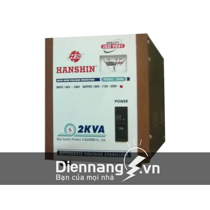 Ổn áp Hanshin 1 pha 7KVA (140V - 240V)