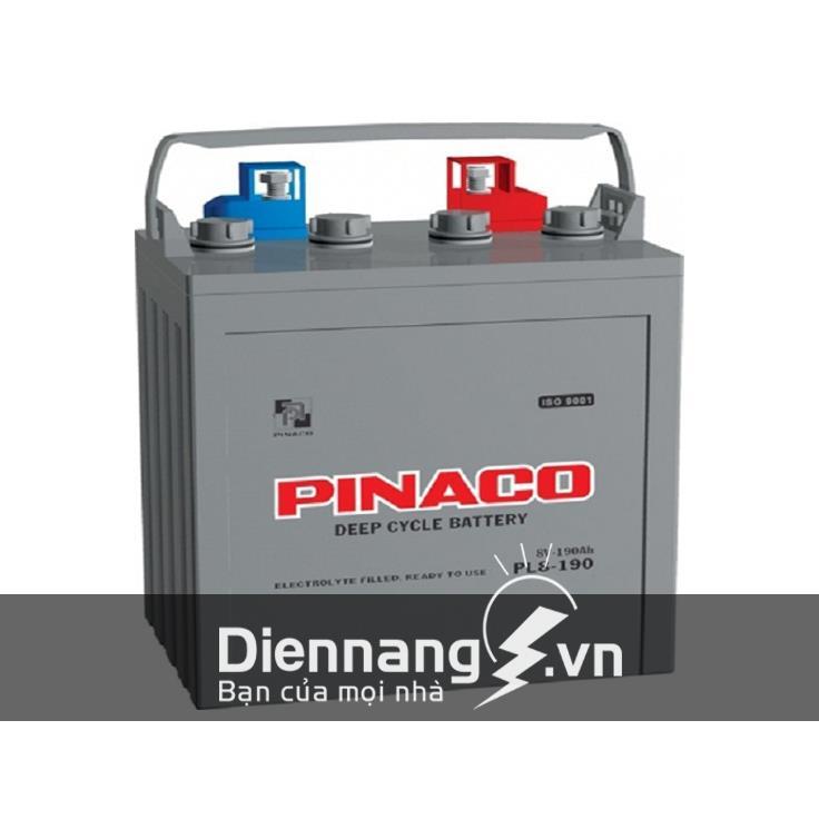 Ắc quy xe điện xe golf Pinaco PL8-190 (8V - 190Ah)
