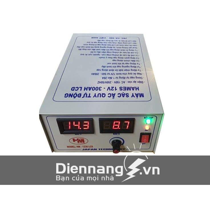 Máy sạc ắc quy tự động Hames HM1230 (12V - 300Ah)