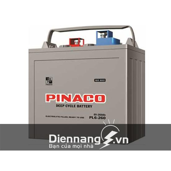 Ắc quy xe điện xe golf Pinaco PL6-260 (6V - 260Ah)
