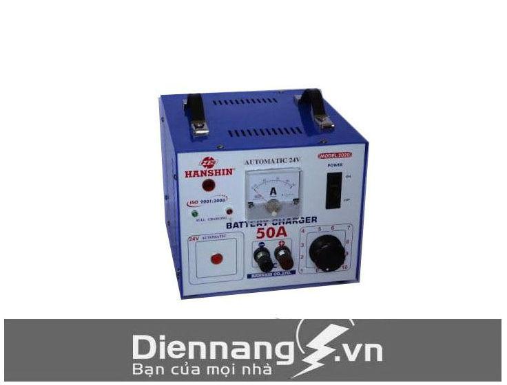 Máy sạc (Nạp) ắc quy Hanshin 50A (12V-24V-36V-48V) - Dây nhôm