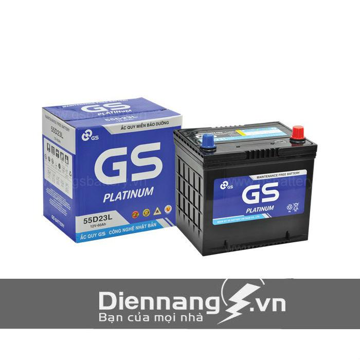 Ắc quy GS khô MF 55D23L/R (12V - 60Ah)