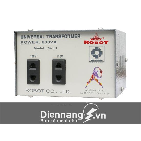 Máy biến thế biến áp có sạc Robot 600VA (12V - 24V)