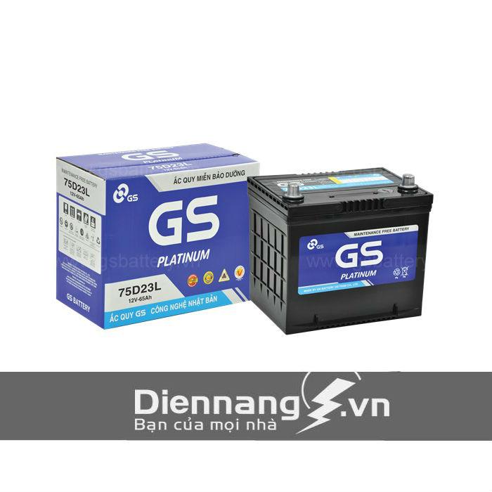 Ắc quy GS khô MF 75D23L/R (12V - 65Ah)