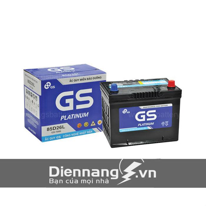 Ắc quy GS khô MF 85D26L/R (12V - 75Ah)