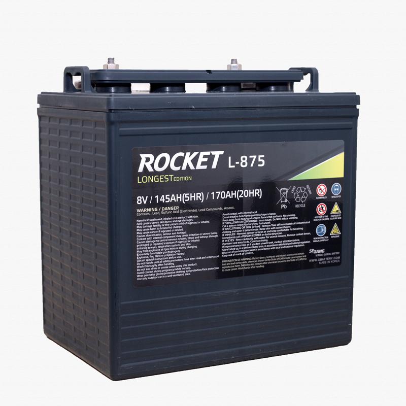 Ắc quy xe điện xe Golf ROCKET L-875 (GC8-875) (8V - 170Ah)
