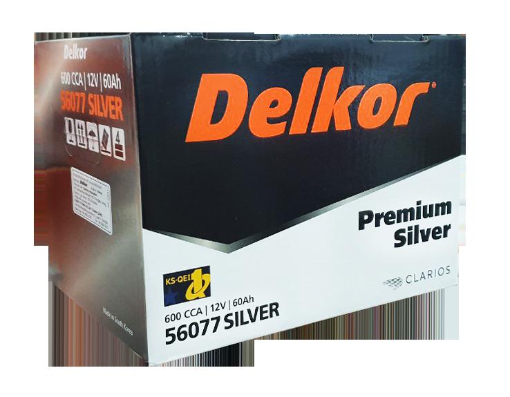 Ắc quy DELKOR Din MF 56077 (12V - 60Ah) -Premium Silver