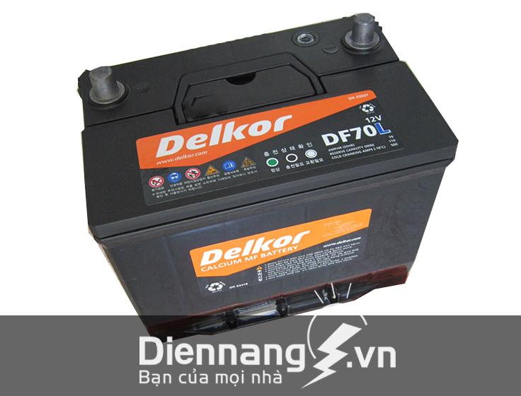 Ắc quy Delkor DF70L (12V - 70Ah)