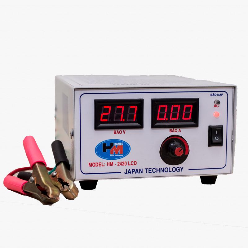 Máy sạc tự động Hames HM2420 LCD (24V - 200Ah)