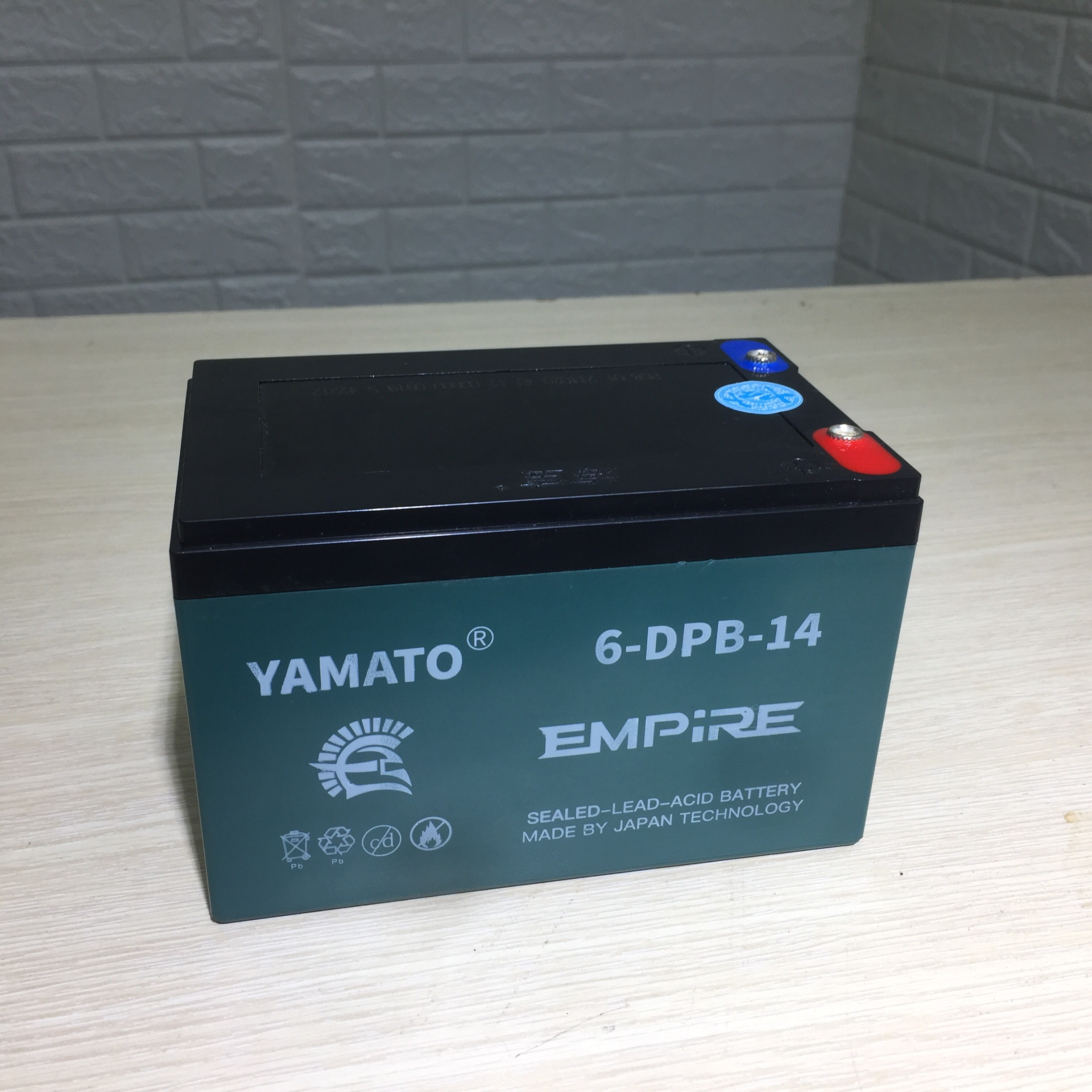 Ắc quy xe đạp điện Yamato 6-DPB - 14 (12V - 14Ah)