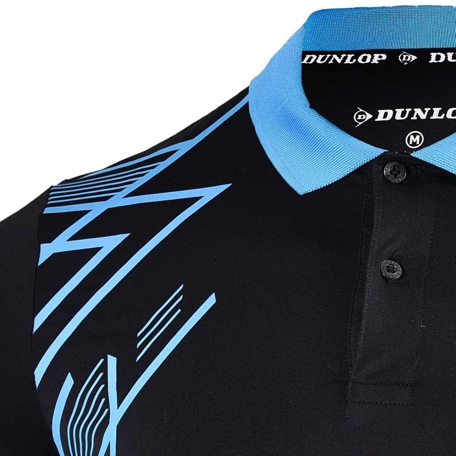Áo Cầu Lông nam Dunlop - DABAS9037-1C-BK (Đen)