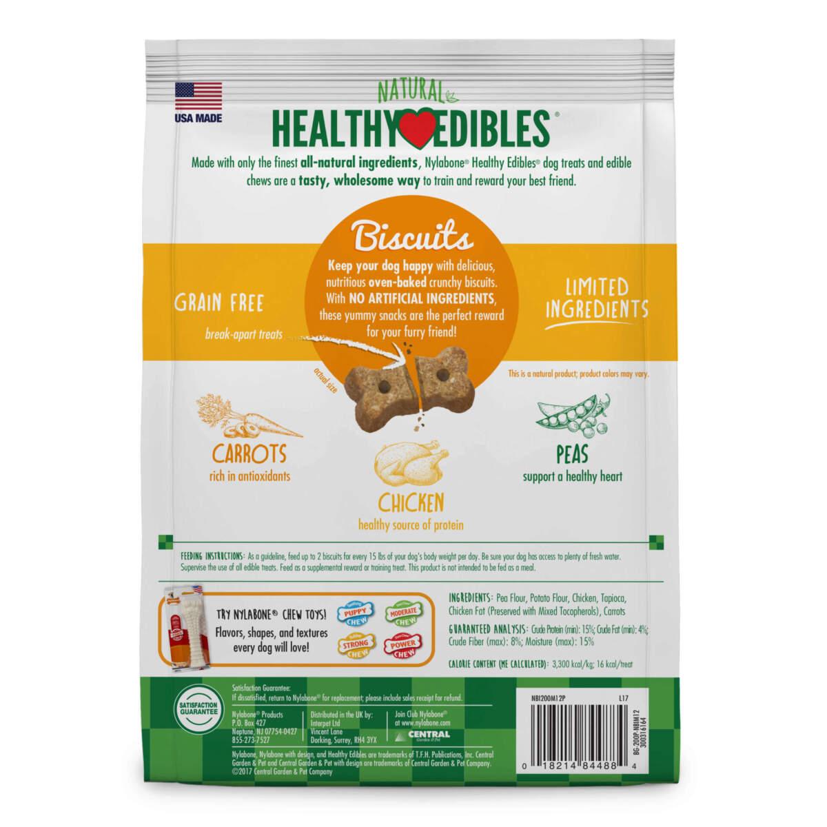 Nylabone Healthy Edibles Biscuits Chicken & Veggie Flavor 341g