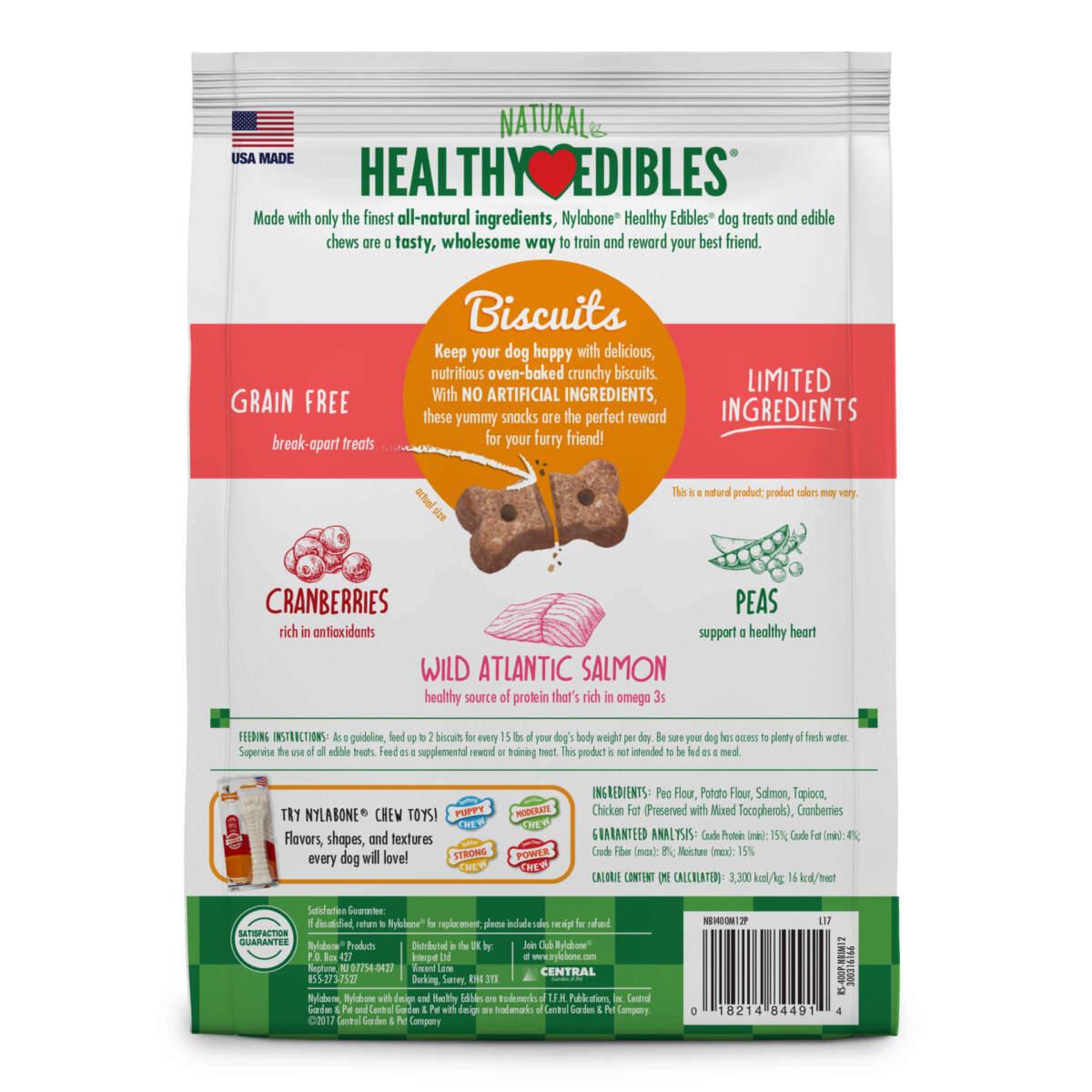 Nylabone Healthy Edibles Biscuits Salmon 341g