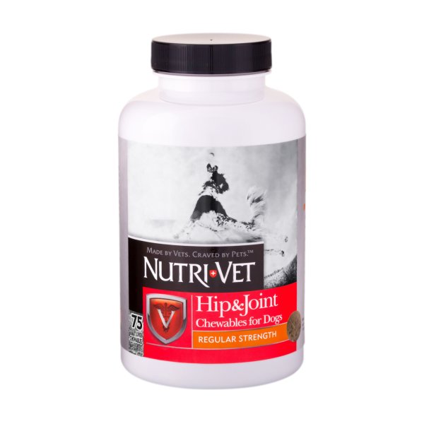 Nutri - Vet Hip and Joint Regular Strength Chewables - 75 chewables