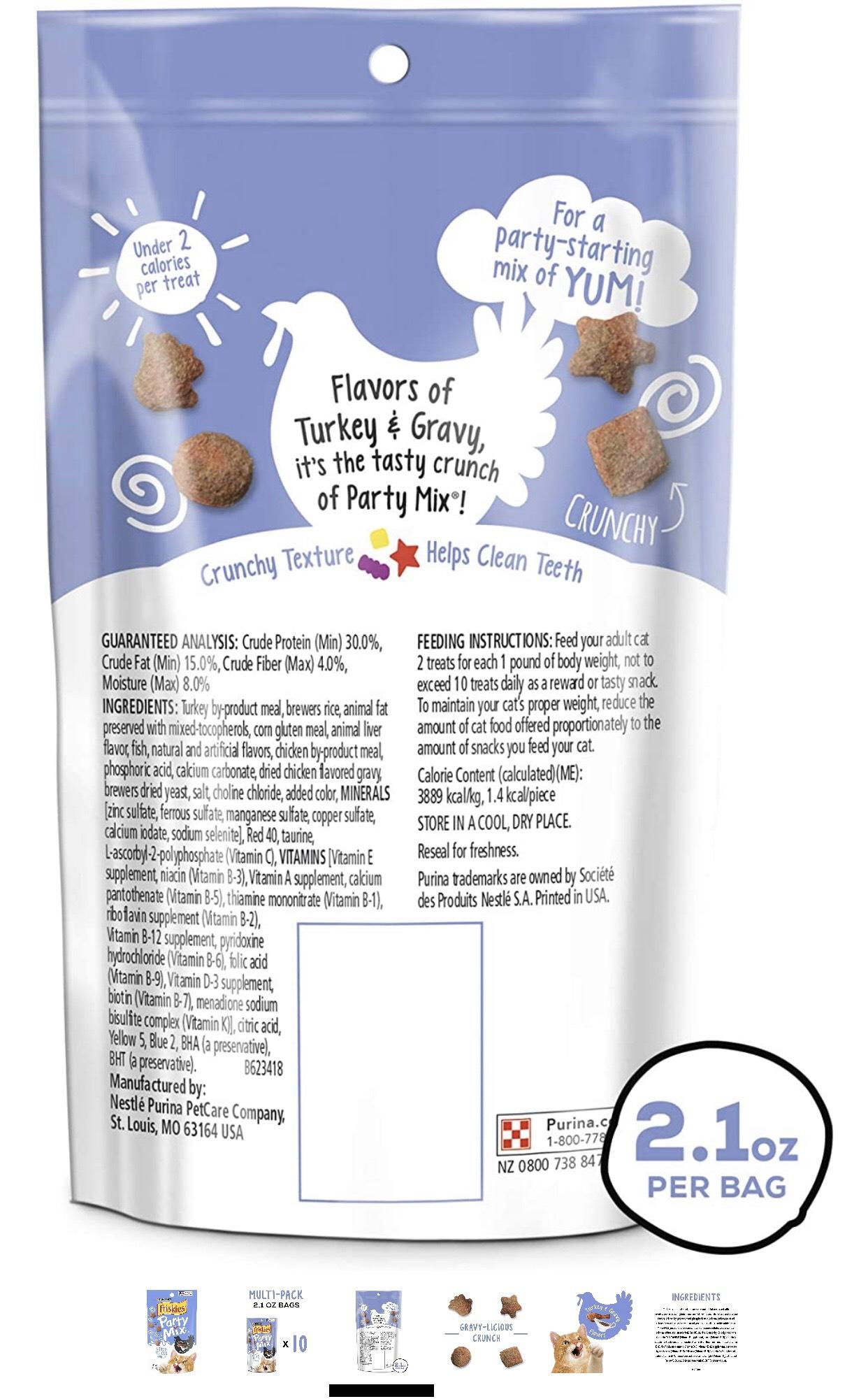 Bánh thưởng cho mèo - Friskies Party Mix Gravy Licious Crunch 170g