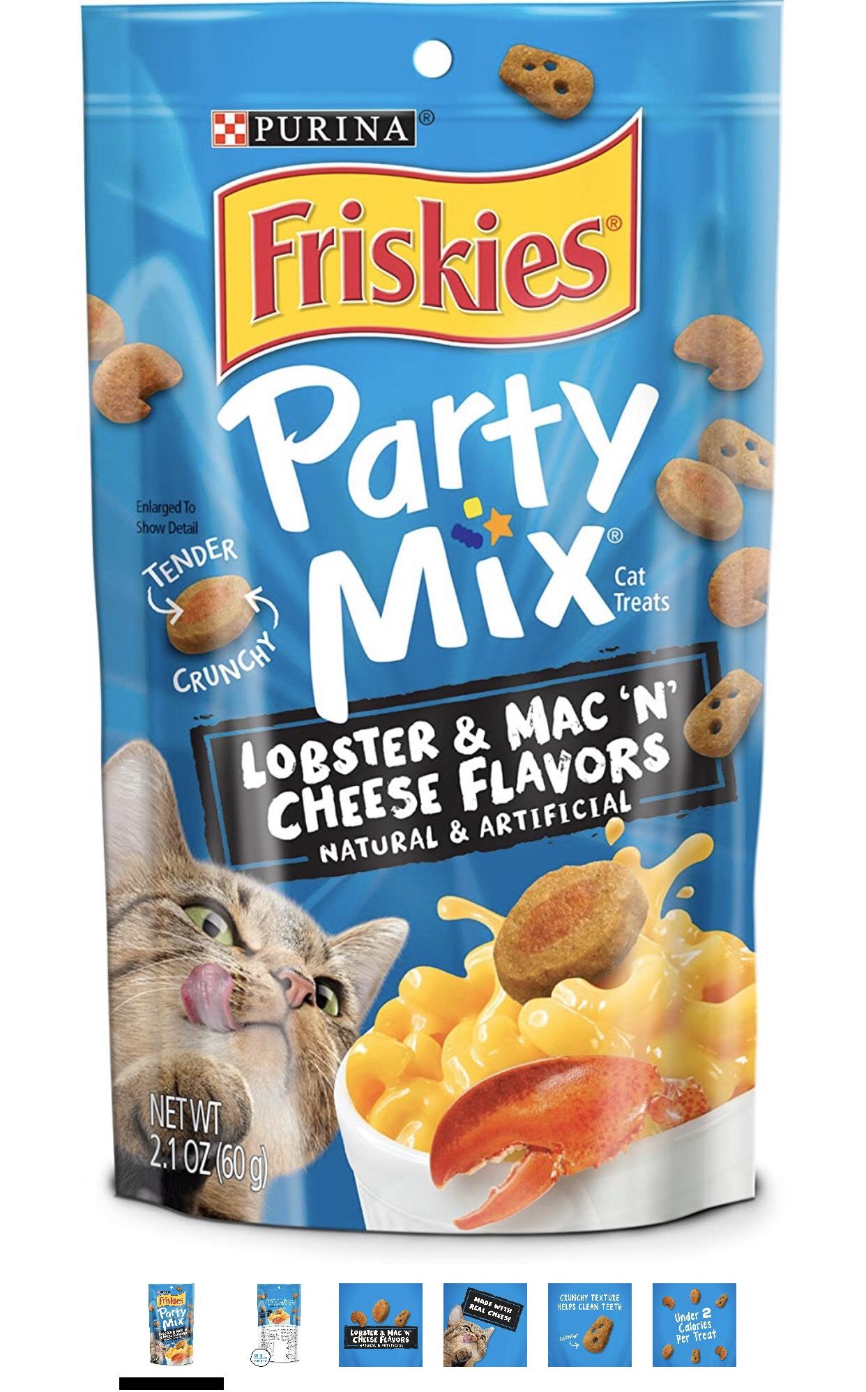 Bánh thưởng cho mèo - Friskies Party Mix Lobster & Mac