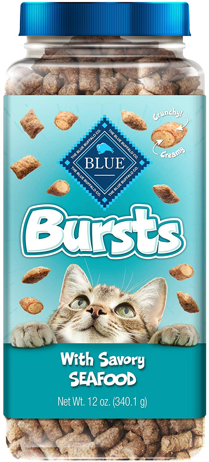 Blue Buffalo Bursts With Savory Seafood Crunchy Cat Treats 340g
