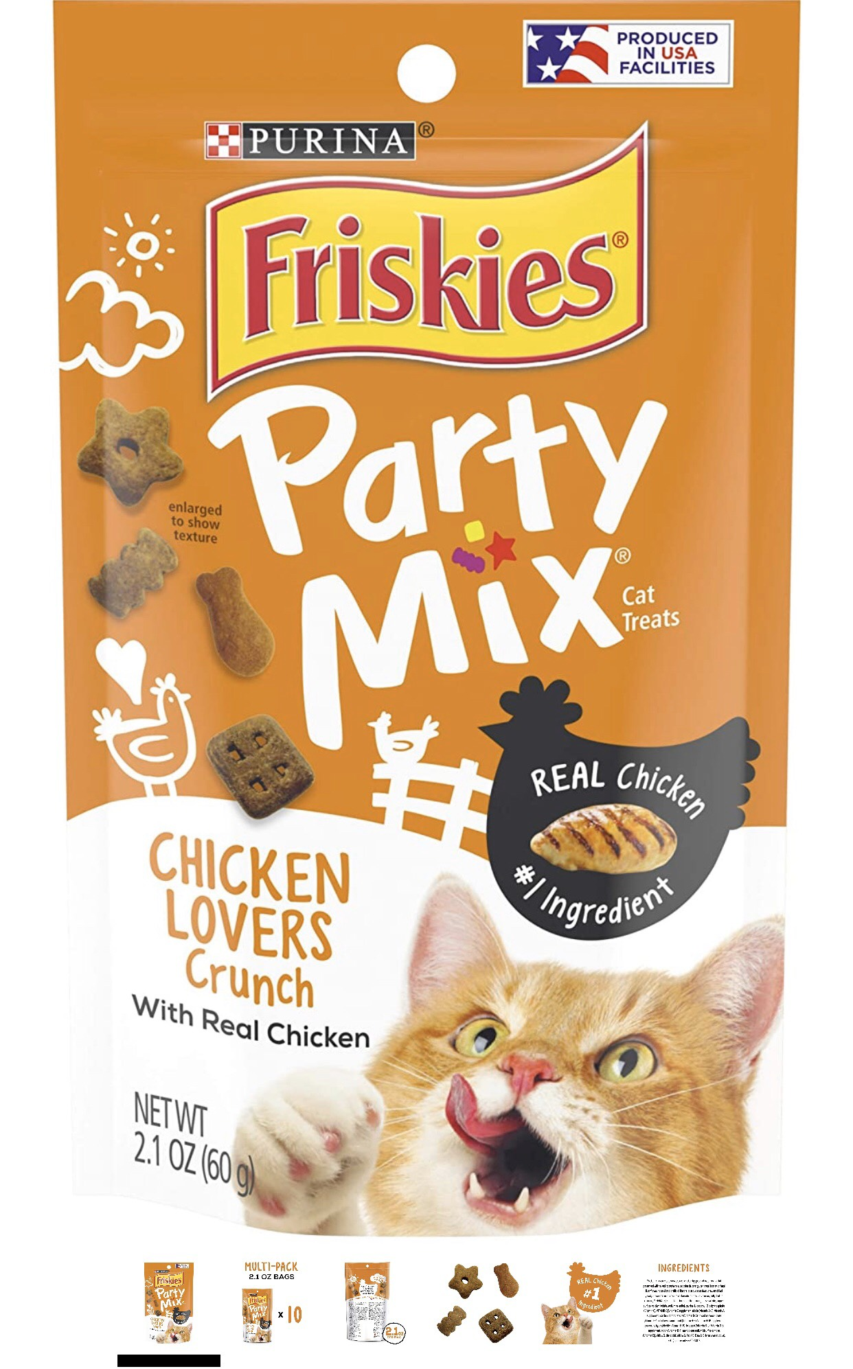 Friskies Party Mix With Real Chicken 60g