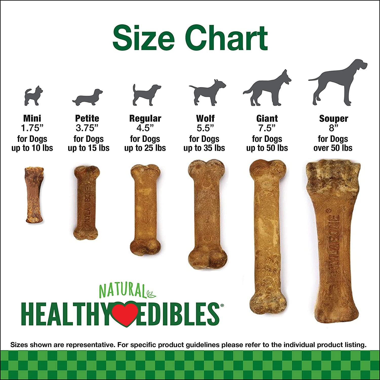 Nylabone Healthy Edibles Long Lasting Turkey & Apple Dog Treats Wolf 152g