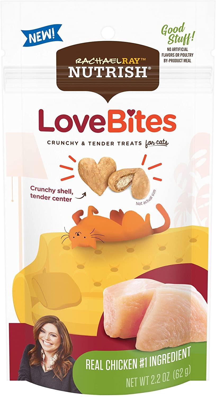 Rachael Ray Nutrish Love Bites Crunchy and Tender Treats Real Chicken 62g