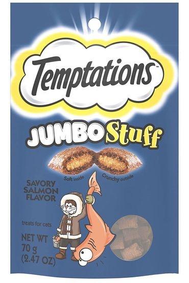 Bánh thưởng cho mèo - Temptations Jumbo Stuff Savory Salmon Flavor 85g