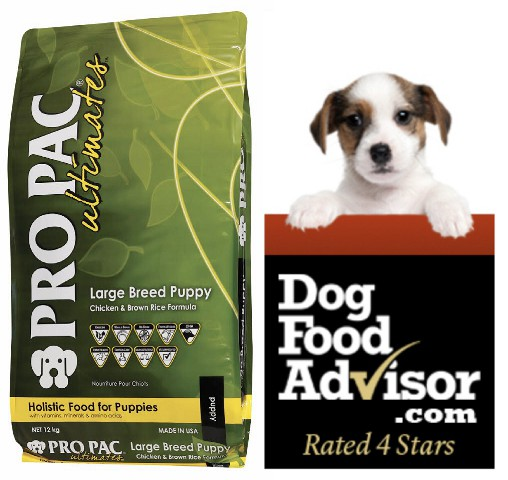 PRO PAC Ultimates  Large Breed Puppy Chicken & Brown Rice Formula 2.5kg&12kg