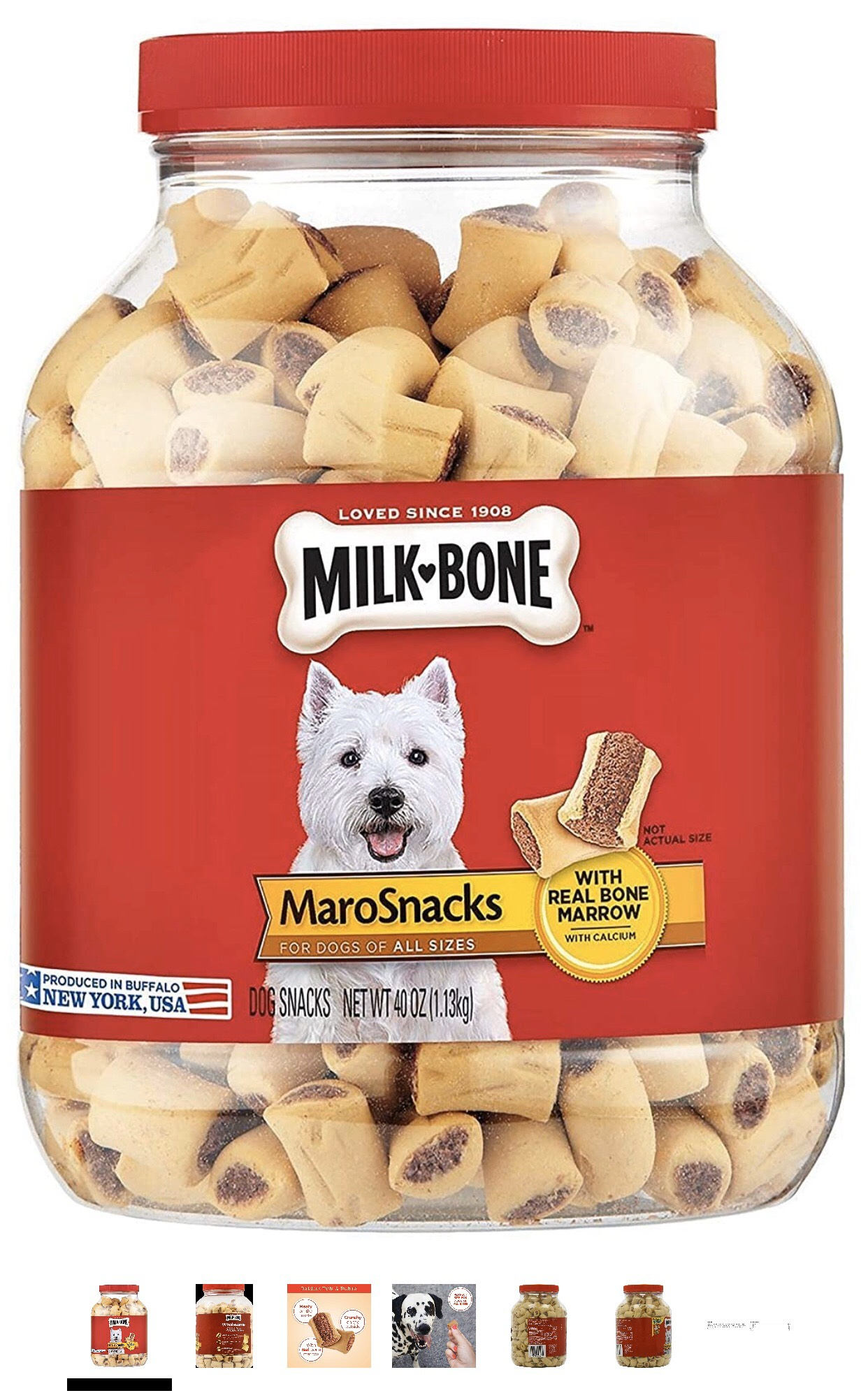 Milk-Bone MaroSnacks Dog Treats for Dogs of All Sizes 1.13kg