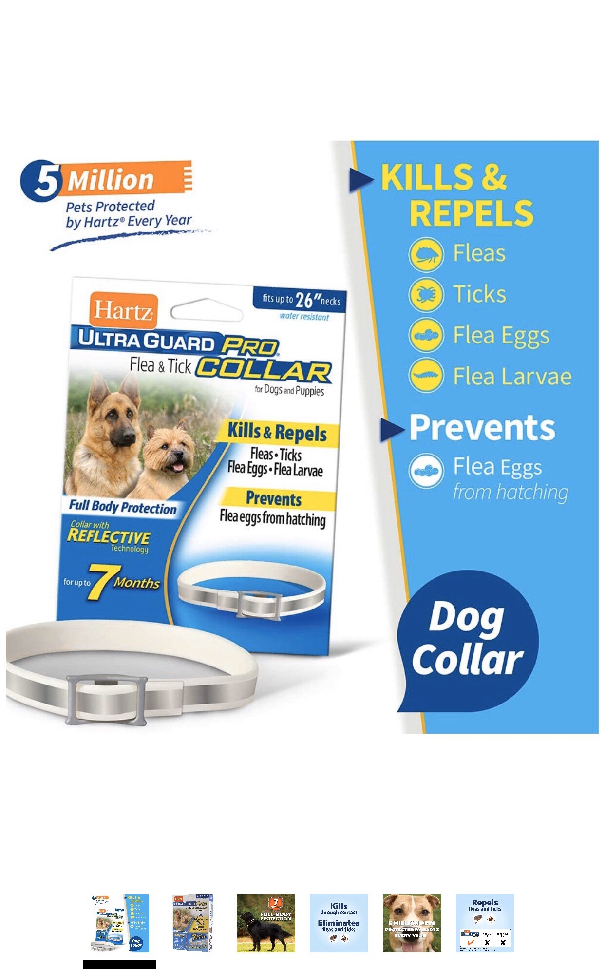 Hartz Ultra Guard Flea & Tick Pro Collar for Dogs