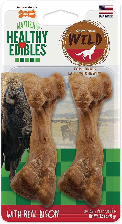Nylabone Healthy Edibles Wild Natural Long Lasting Bison Medium Dog Chew 96g