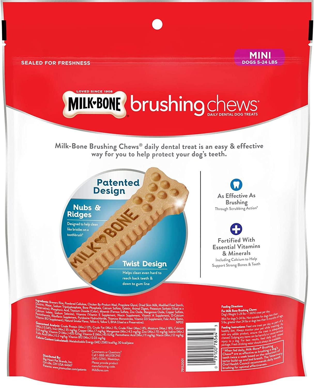 Milk-Bone Brushing Chews Daily Dental Mini Dog Treats 757g