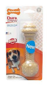 Nylabone Dura Chew Barbell Peanut Butter Flavor Dog Chew Toy 16kg