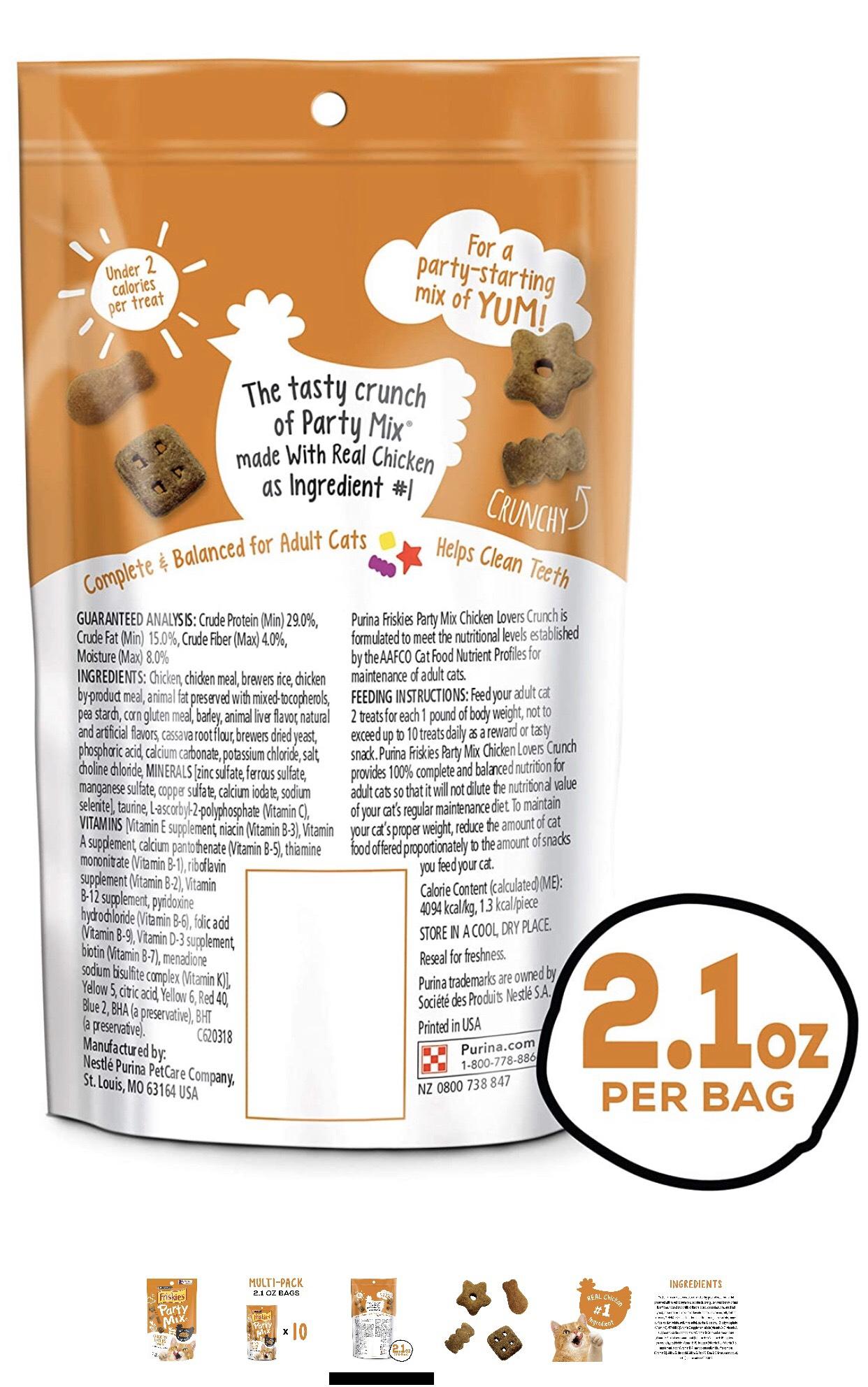 Bánh thưởng cho mèo - Friskies Party Mix With Real Chicken 170g