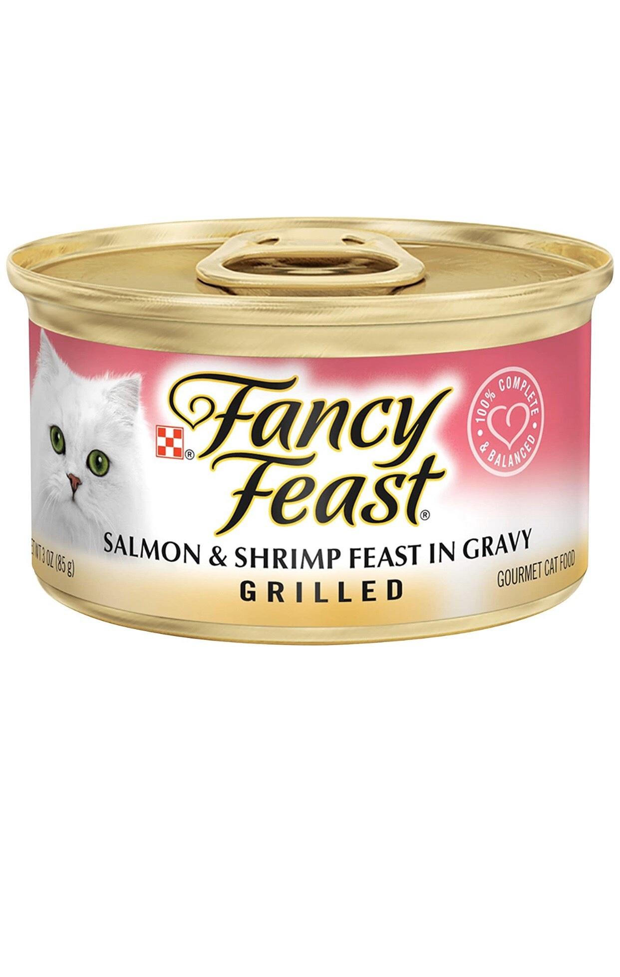 Fancy Feast Salmon & Shrimp Feast In Gravy 85g